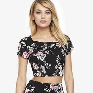 Express Floral Crop Top